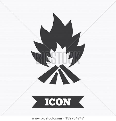 Fire flame sign icon. Heat symbol. Stop fire. Escape from fire. Graphic design element. Flat fire flame symbol on white background. Vector
