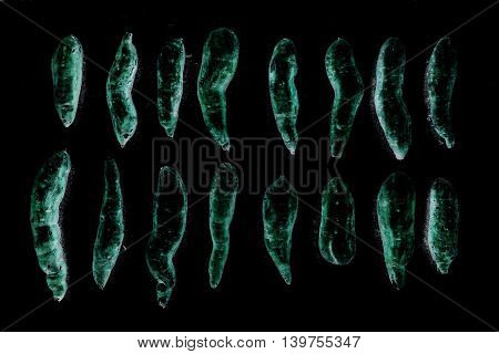 abstract group of raw sweet japanese potatoes