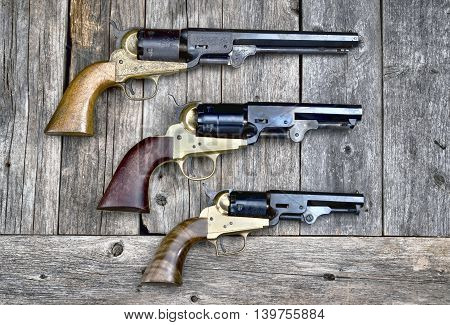 Cowboy guns that won the wild west.