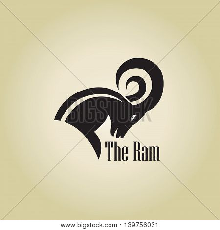 ram  logo ideas design vector  on background