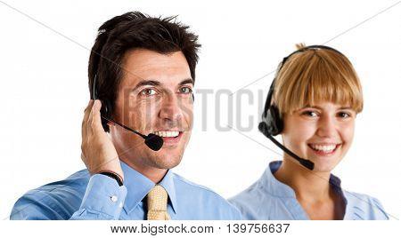 Portrait of an handsome customer representative