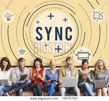 Web Sync Trend Update Networking Concept