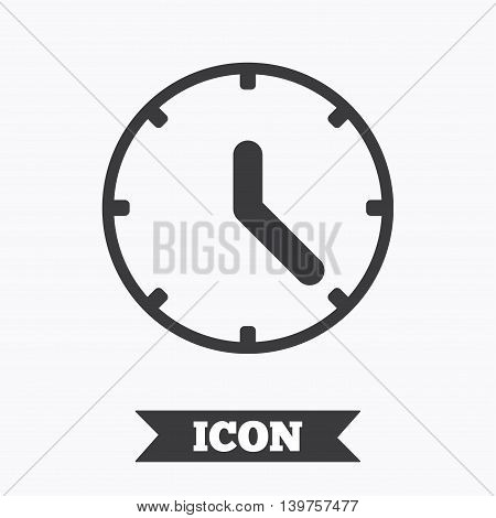 Clock sign icon. Mechanical clock symbol. Graphic design element. Flat clock symbol on white background. Vector
