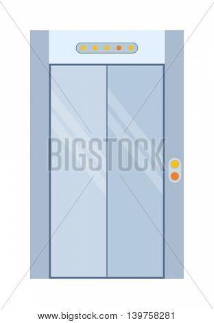 Lift door isolated vecto.