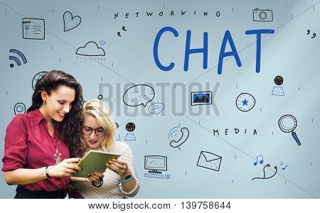 Networking Media Sharing Icons Graphic Concept