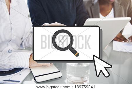 Searching Cursor Magnifying Glass Looking Concept