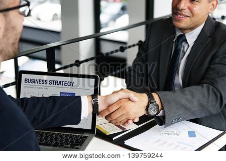 Businessmen Handshake Deal Agreement Concept