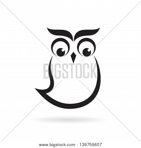 Vector images of owl design on a white background. Vector owl for your design.