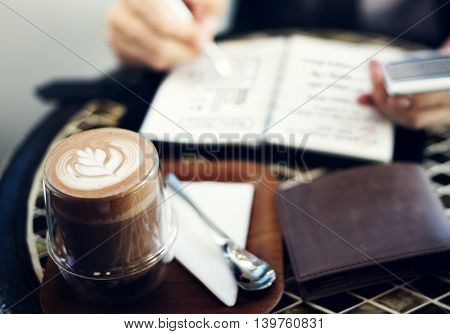 Business Man Planning Coffee Concept