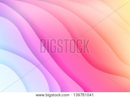 Bright spectrum waves abstract background with waves with shadows