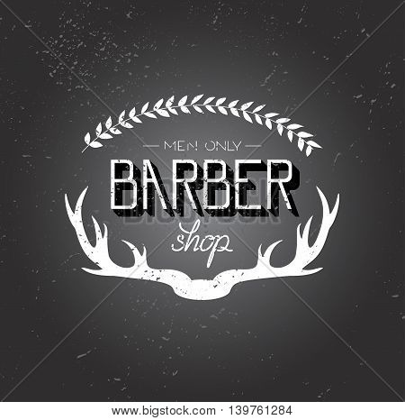 Hand draw lettering in vector. Barber shop modern  calligraphy in vintage style. Best for barbershops, chalk board, print design, web, t-shirts design, hairdressing salon and social nets.