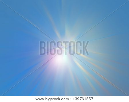Beautiful abstract fantasy background soft blurred rays of light speed effect.