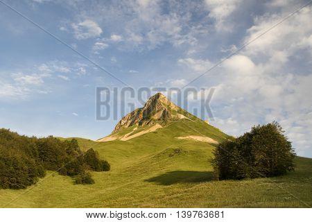 Stog peak in Sutjeska national park Zelengora mountain