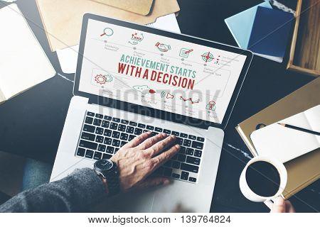 Achievement Decision Improvement Resolve Concept