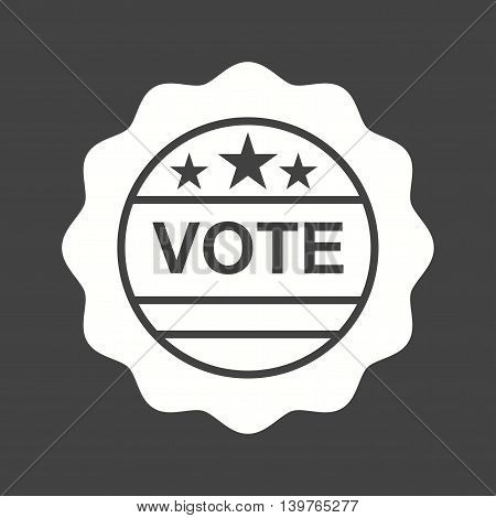Vote, stamp, sticker icon vector image.Can also be used for elections. Suitable for web apps, mobile apps and print media.