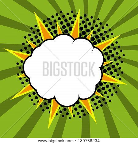 Comic speech bubble comic background. Vector illustration.