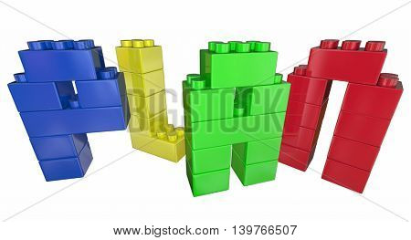 Plan Strategy Tactics Vision Building Blocks 3d Illustration