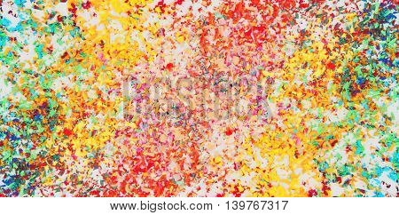 Colorful pastel cyan scraps , abstract color