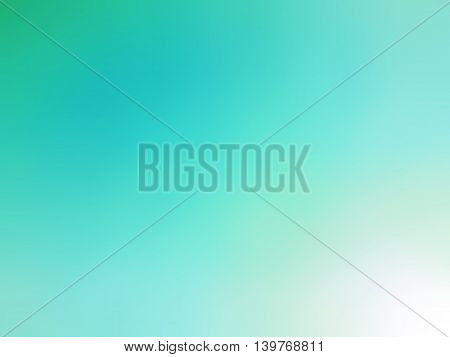 Abstract gradient teal white colored blurred background.