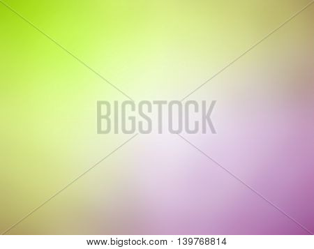 Abstract gradient pink green colored blurred background.