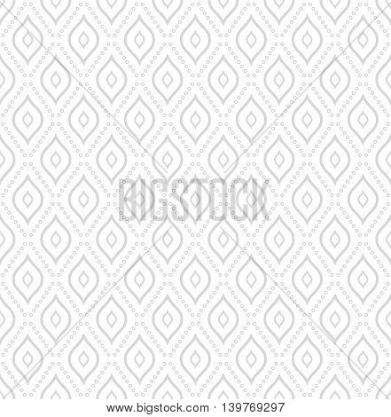 Elegant vector classic pattern. Seamless abstract background with repeating elements. Light silver pattern