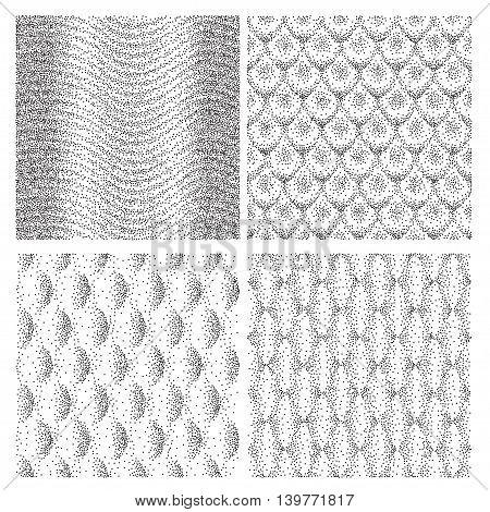 Halftone vector shapes illustration pattern background. EPS