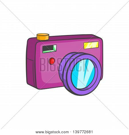 Camera icon in cartoon style isolated on white background. Device symbol