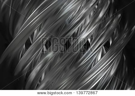 3d rendering abstract glass background with twisted elements