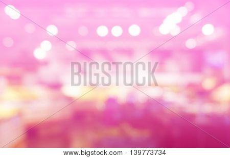 pink bokeh blur of department store shopping background