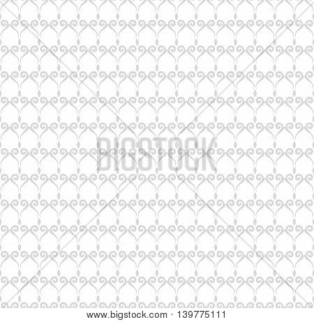 Seamless vector ornament. Modern geometric pattern with repeating elements. Light silver pattern