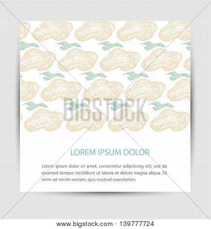 Birds for card abstract clouds abstract art background bird card creative