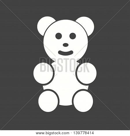 Bear, teddy, stuffed icon vector image.Can also be used for celebrations. Suitable for mobile apps, web apps and print media.