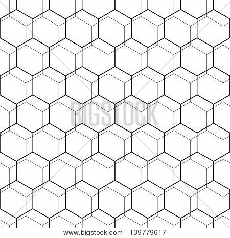Geometric fine abstract vector octagonal background. Seamless modern pattern. Black and white pattern