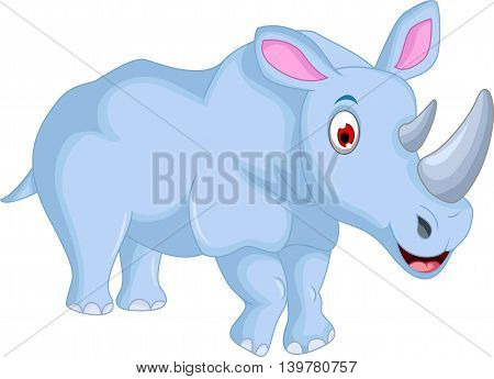 cute Cartoon rhino standing for you design