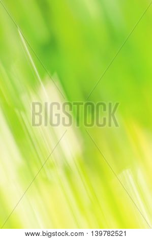 Abstract blurred green background with diagonal yellow stripes