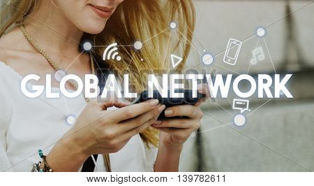 Social Networking Global Communications Technology Connection Concept