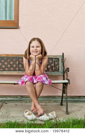 Happy Childhood - Portrait Of Girl