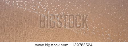 Perfect brown sand and crystal water beach, Panorama