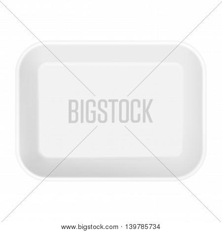 White Styrofoam Food Tray Pack.