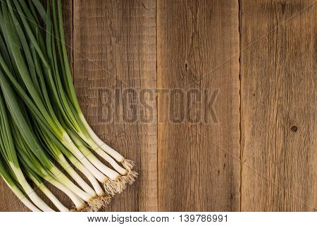 Onions on old wood.Onions on old wood