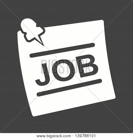 Job, hiring, newspaper icon vector image. Can also be used for employment. Suitable for use on web apps, mobile apps and print media.