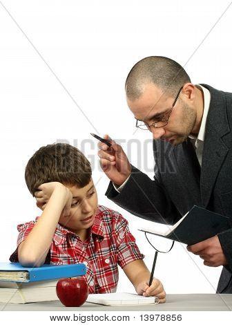 Colegial y profesor