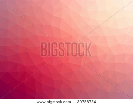 Abstract gradient red pink colored blurred background.