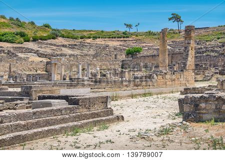 Archaeological site of ancient Kamiros. Rhodes Greece