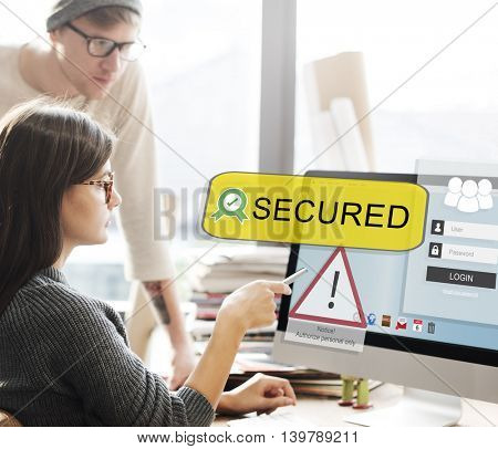Secured Security Technology Digital Business Concept