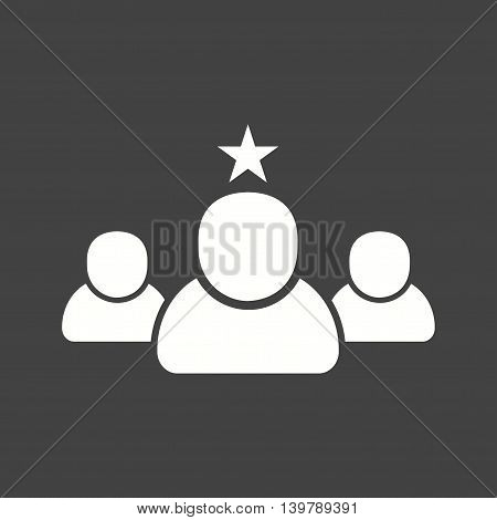 Interview, favorite, position icon vector image. Can also be used for employment. Suitable for use on web apps, mobile apps and print media.