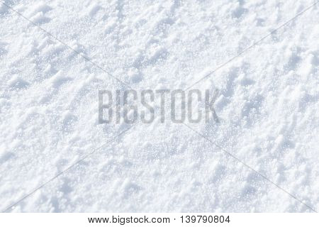A pure white powdery snow background texture