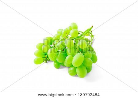 green grape brench isolated on white background
