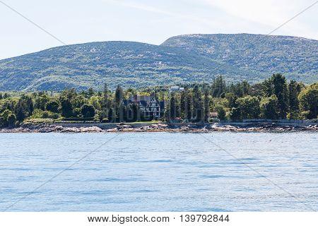 Huge Tudor mansion on the coast of Maine near Bar Harbor