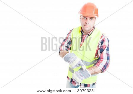 Angry Constructor Showing That You Are Late